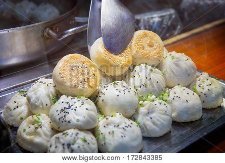 Shanghai - Dumpling hot eating morning food soup dumplings xiaolongbao xiao long bao chinese food