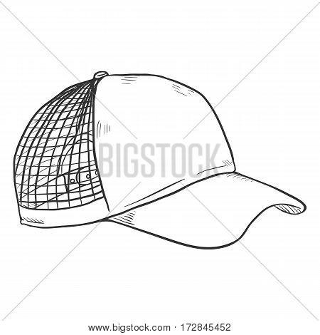 Vector Sketch Blank Net Cap