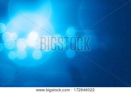 Abstract blue circles and lines glowing technology background illustration