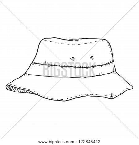 Vector Single Sketch Bucket Hat