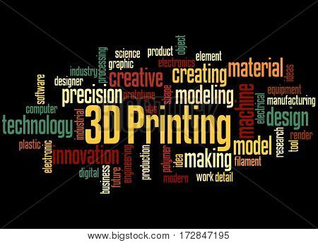 3D Printing, Word Cloud Concept 5