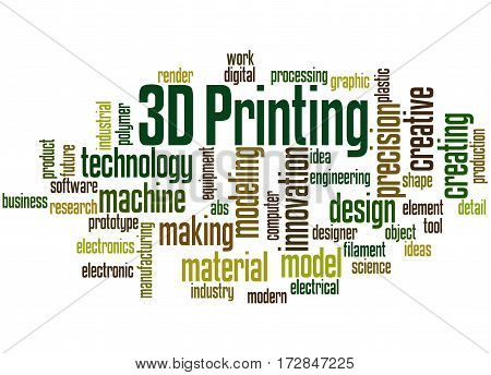 3D Printing, Word Cloud Concept 6