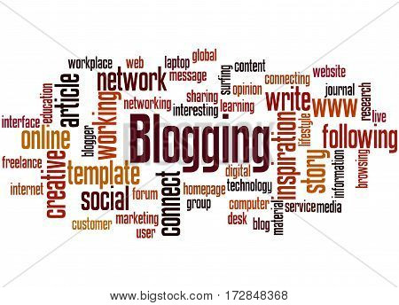 Blogging, Word Cloud Concept