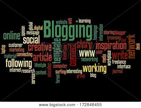 Blogging, Word Cloud Concept 4