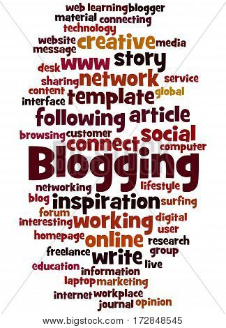 Blogging, Word Cloud Concept 8