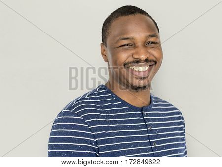 African Man Smiling Happiness Studio Portrait