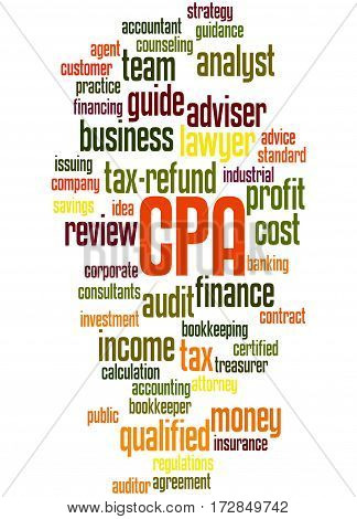 Cpa - Certified Public Accountant, Word Cloud Concept 5