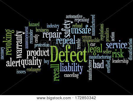 Defect, Word Cloud Concept 8