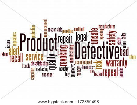 Defective Product, Word Cloud Concept 3