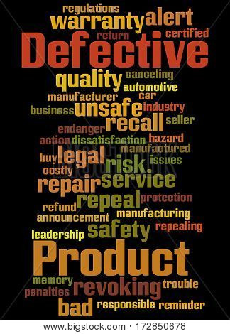 Defective Product, Word Cloud Concept 6