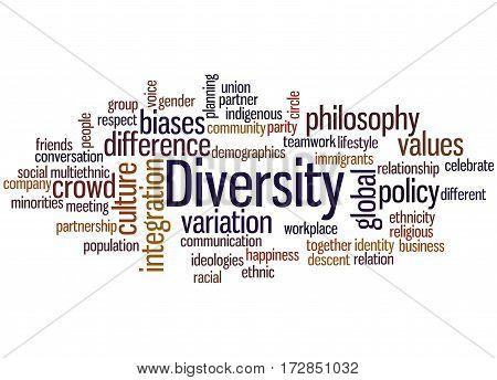 Diversity, Word Cloud Concept 3