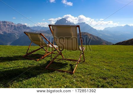 Two Chairs In The Mountains