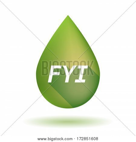 Isolated Olive Oil Drop With    The Text Fyi