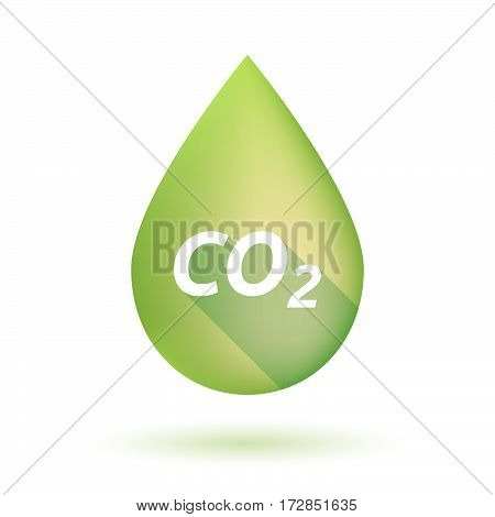 Isolated Olive Oil Drop With    The Text Co2