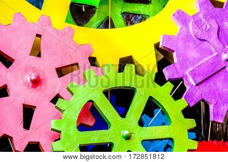 colorful cog texture gears closeup wheels background