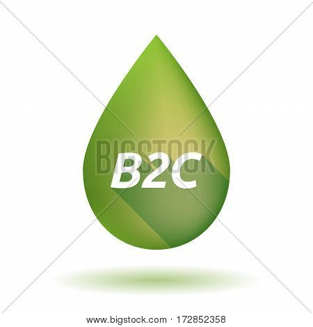 Isolated Olive Oil Drop With    The Text B2C