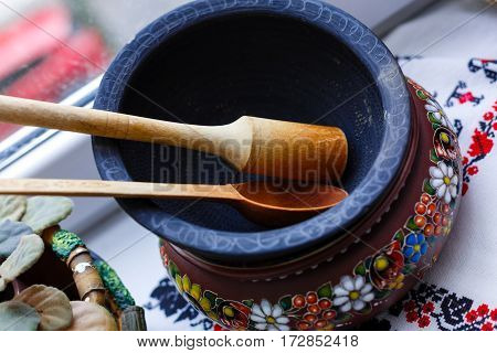 Ukrainian Archaic Kitchen Utensils