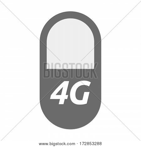 Isolated Pill With    The Text 4G