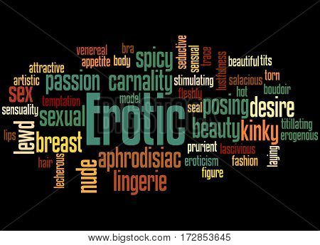Erotic, Word Cloud Concept 7