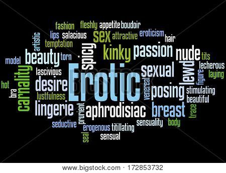 Erotic, Word Cloud Concept 8