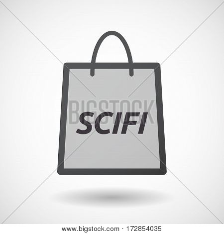 Isolated Shopping Bag With    The Text Scifi