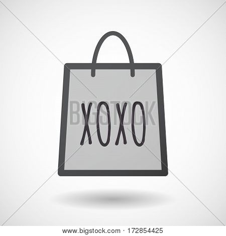Isolated Shopping Bag With    The Text Xoxo
