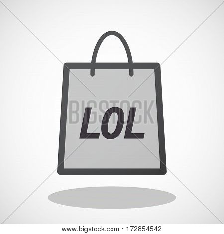 Isolated Shopping Bag With    The Text Maybe