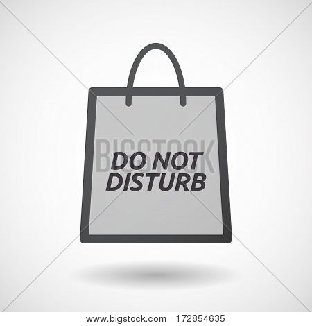 Isolated Shopping Bag With    The Text Do Not Disturb