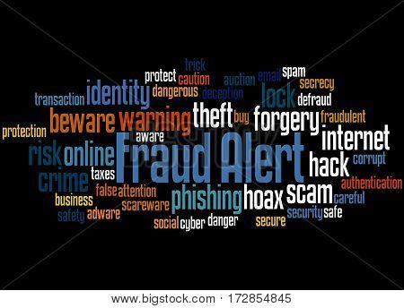 Fraud Alert, Word Cloud Concept 3