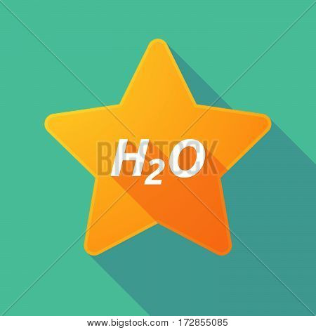 Long Shadow Star With    The Text H2O
