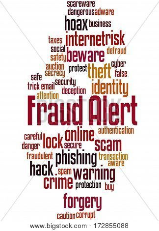 Fraud Alert, Word Cloud Concept 5