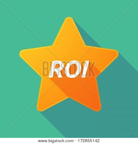 Long Shadow Star With    The Return Of Investment Acronym Roi