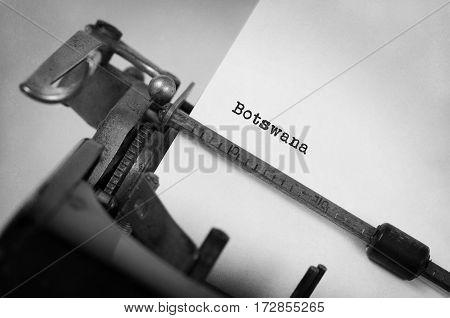 Old Typewriter - Botswana