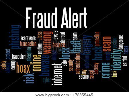 Fraud Alert, Word Cloud Concept 9
