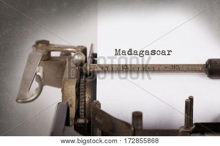 Old Typewriter - Madagascar