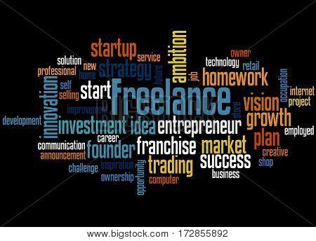 Freelance, Word Cloud Concept 4