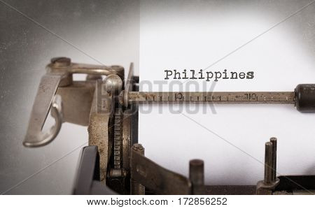 Old Typewriter - Philippines