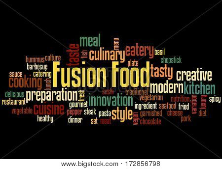 Fusion Food, Word Cloud Concept 4