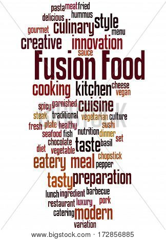 Fusion Food, Word Cloud Concept 5