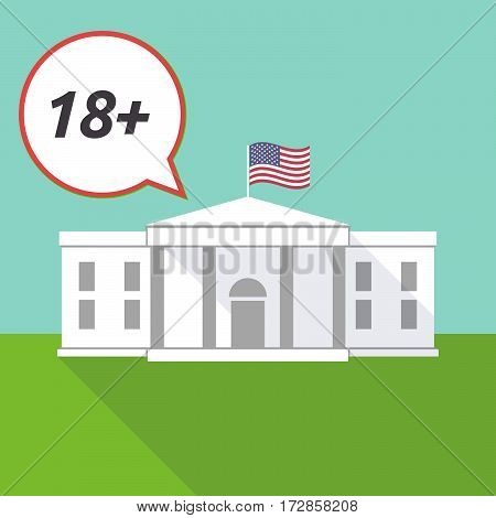 The White House With    The Text 18+