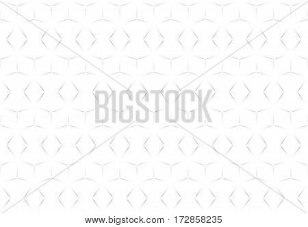 White abstract seamless geometric texture star shapes.