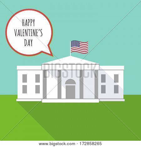 The White House With    The Text Happy Valentines Day