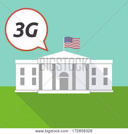 The White House With    The Text 3G