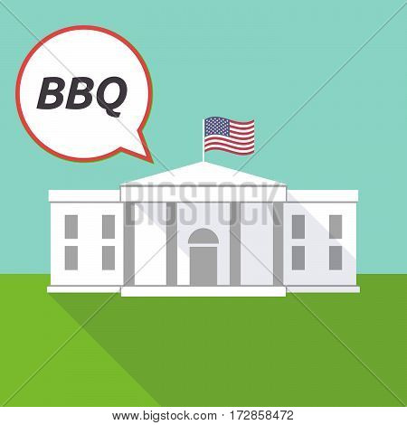 The White House With    The Text Bbq