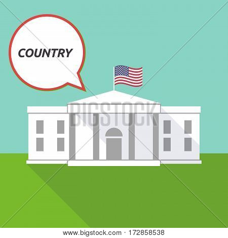 The White House With    The Text Country