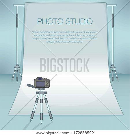 Photo studio concept. Cartoon illustration of photo studio vector concept for web