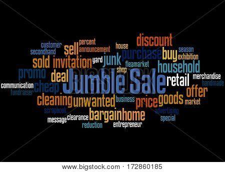 Jumble Sale, Word Cloud Concept 3