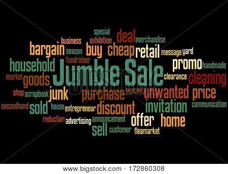 Jumble Sale, Word Cloud Concept 4