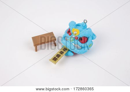 Lion Dnce Figure Of White Background