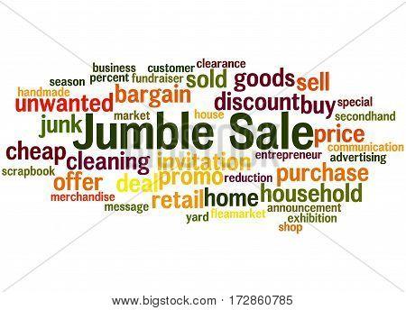 Jumble Sale, Word Cloud Concept 7